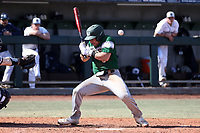CARY, NC - FEBRUARY 23: Tyler Sanfilippo #8 of Wagner College is hit by a pitch during a game between Wagner and Penn State at Coleman Field at USA Baseball National Training Complex on February 23, 2020 in Cary, North Carolina.