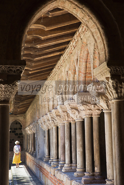 Europe/France/Midi-Pyrénées/82/Tarn-et-Garonne/Moissac: Eglise abbatiale Saint-Pierre de Moissac - Détail chapiteaux - étape du chemin de Saint-Jacques-de-Compostelle, classé Patrimoine Mondial de l'UNESCO,