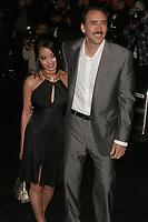 NICOLAS CAGE AND WIFE ALICE KIM<br /> Photo By John Barrett/PHOTOlink.net