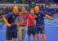 Rotterdam, Netherlands, December 19, 2015,  Topsport Centrum, Lotto NK Tennis, winners volley challenge<br /> Photo: Tennisimages/Henk Koster