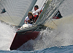 24 May 2006, Valencia, Spain --- America's Cup challenger Mascalzone Latino-Capitalia Team race upwind during their match-race against +39 Challenge of Italy at the Louis Vuitton Act 12 in Valencia, eastern Spain. Photo by Victor Fraile / The Power of Sport Images