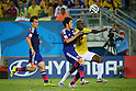 (L to R) <br /> Shinji Okazaki, <br /> Atsuto Uchida (JPN), <br /> Pablo Armero (COL), <br /> JUNE 24, 2014 - Football /Soccer : <br /> 2014 FIFA World Cup Brazil <br /> Group Match -Group C- <br /> between Japan 1-4 Colombia <br /> at Arena Pantanal, Cuiaba, Brazil. <br /> (Photo by YUTAKA/AFLO SPORT)