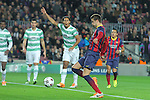 11.12.2013 Barcelona, Spain. UEFA Champions League, Group H Matchday 6. Picture show Gerard Piqué   in action during game between FC Barcelona Against Celtic at Camp Nou