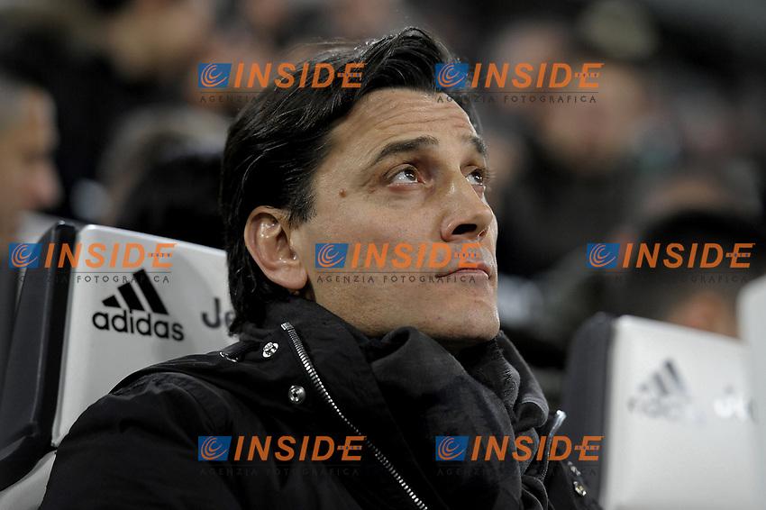 Vincenzo Montella <br /> Torino 10-03-2017, Juventus Stadium, Football Calcio 2016/2017 Serie A, Juventus - Milan, Foto Filippo Alfero/Insidefoto