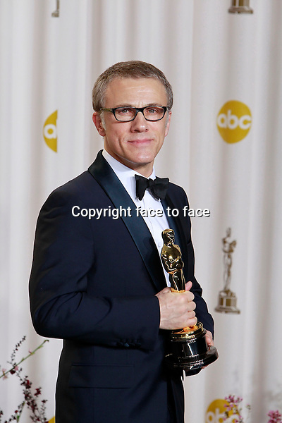 Christoph Waltz attending the 85th Academy Awards at the Hollywood and Highland Center in Hollywood, California, 24.02.2013...Credit: MediaPunch/face to face..- Germany, Austria, Switzerland, Eastern Europe, Australia, UK, USA, Taiwan, Singapore, China, Malaysia and Thailand rights only -