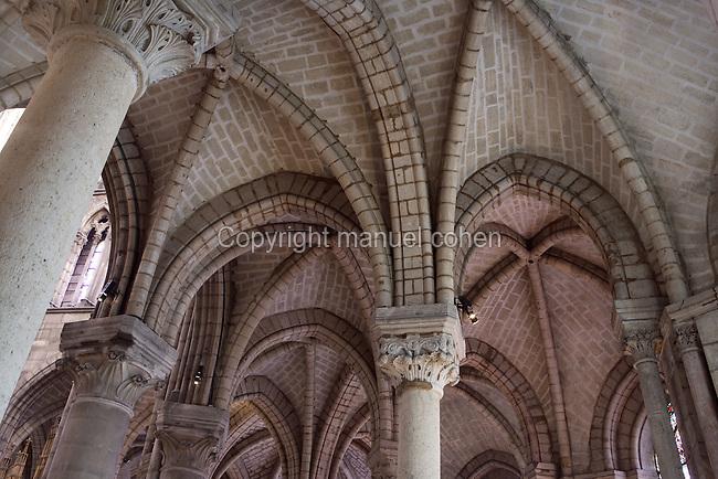 Rib vault, chevet, 13th century, Abbey church of Saint Denis, Seine Saint Denis, France. Picture by Manuel Cohen