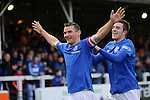 Lee McCulloch celebrates with Andy Little