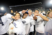 22 October 2016:  Penn State students celebrate on the field after the Penn State Nittany Lions upset the #2 ranked Ohio State Buckeyes 24-21 at Beaver Stadium in State College, PA. (Photo by Randy Litzinger/Icon Sportswire)