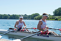 Caversham, Reading, . United Kingdom.   Lauren ROWLES and Lawrance WHITLEY, GBRowingteam, Paralympic  Team  For 2016 Rio Games.   Tuesday,  19/07/2016,         [Mandatory Credit Peter Spurrier/