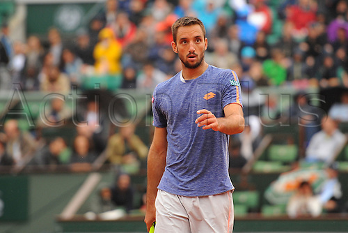 29.05.2016. Stade Roland Garros, Paris, France. Roland Garros French Open Tennis Day 8.  Viktor Troicki (SRB)
