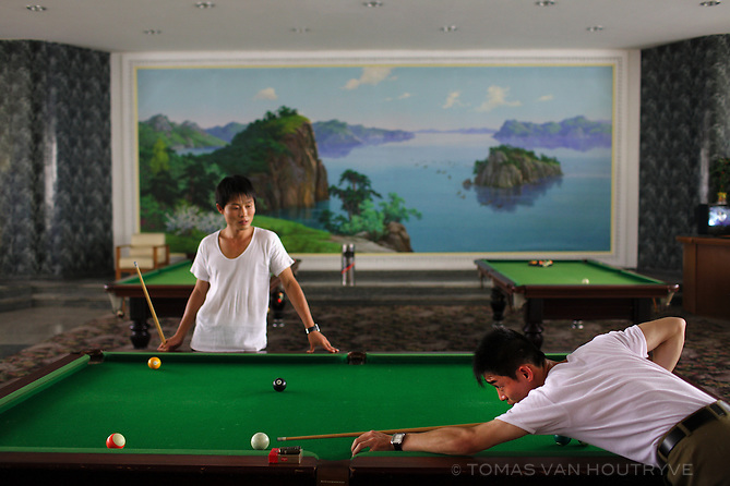 Koreans play billiards in Pyongyang, North Korea (DPRK) on 15 August 2007.
