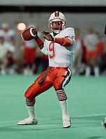 Roy Dewalt BC Lions quarterback 1987. Copyright photograph Scott Grant