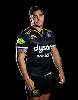 Horacio Agulla poses for a portrait in the 2015/16 European kit during a Bath Rugby photocall on December 1, 2015 at Farleigh House in Bath, England. Photo by: Patrick Khachfe / Onside Images