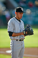 Grand Junction Rockies starting pitcher Luis Guzman (19) warms up in the bullpen before the game against the Ogden Raptors in Pioneer League action at Lindquist Field on August 24, 2016 in Ogden, Utah. The Raptors defeated the Rockies 11-10. (Stephen Smith/Four Seam Images)