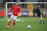 Fleetwood Town's Wes Burns during the pre-match warm-up <br /> <br /> Photographer Kevin Barnes/CameraSport<br /> <br /> The EFL Sky Bet League One - Fleetwood Town v Peterborough United - Saturday 15th February 2020 - Highbury Stadium - Fleetwood<br /> <br /> World Copyright © 2020 CameraSport. All rights reserved. 43 Linden Ave. Countesthorpe. Leicester. England. LE8 5PG - Tel: +44 (0) 116 277 4147 - admin@camerasport.com - www.camerasport.com