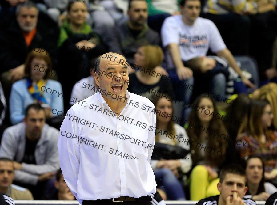 Kosarka ABA League season 2014-2015<br /> Partizan v Zadar<br /> Head coach Dusko Vujosevic<br /> Beograd, 15.03.2015.<br /> foto: Srdjan Stevanovic/Starsportphoto&copy;