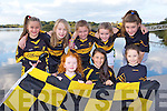 Dr Crokes supporters Sadhbh Stack, Fiona Galvin, Ella Galvin, Back row: Pia Hickey, Caoilinn O'Donoghue, Kate Stack, Niamh Stack, Aine O'Connor  preparing their support ahead of the County final against Austin Stacks this Sunday