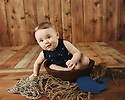 Jackson G 6 Month Baby Bee 2 of 4 Session