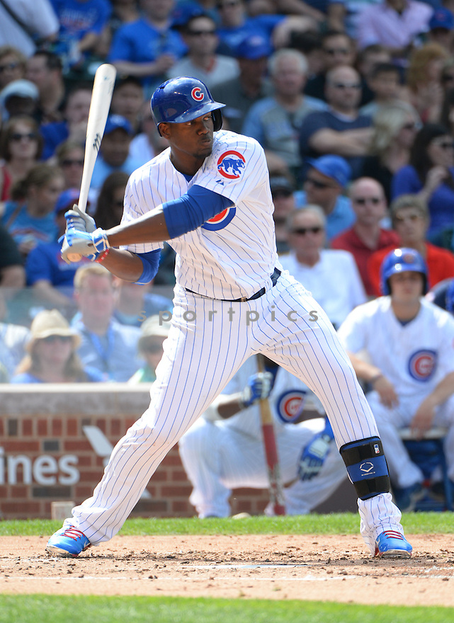 Chicago Cubs Jorge Soler (68) during a game against the Kansas City Royals on May 29, 2015 at Wrigley Field in Chicago, IL. The Royals beat the Cubs 8-4.