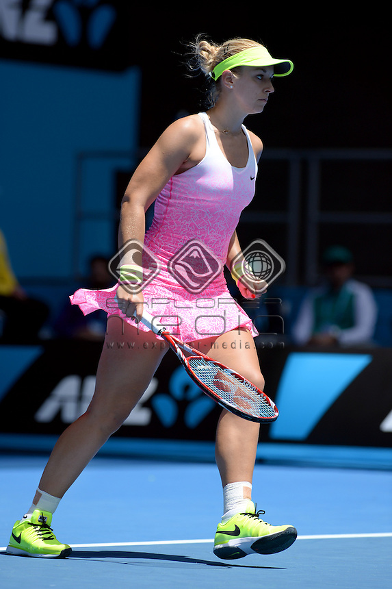 Sabine Lisiciki (GER) round 1 action<br /> 2015 Australian Open Tennis <br /> Grand Slam of Asia Pacific<br /> Melbourne Park, Vic Australia<br /> Monday 19 January 2015<br /> &copy; Sport the library / Jeff Crow