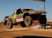 Apr 16, 2011; Surprise, AZ USA; LOORRS driver Todd Leduc (4) during round 3 at Speedworld Off Road Park. Mandatory Credit: Mark J. Rebilas-.