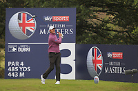 Nicolas Colsaerts (BEL) on the 3rd tee during Round 2 of the Sky Sports British Masters at Walton Heath Golf Club in Tadworth, Surrey, England on Friday 12th Oct 2018.<br /> Picture:  Thos Caffrey | Golffile<br /> <br /> All photo usage must carry mandatory copyright credit (&copy; Golffile | Thos Caffrey)