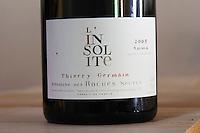 Cuvee l'insolite. Domaine des Roches Neuves, Saumur Champigny, Loire, France