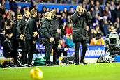 4th December 2017, St. Andrews Stadium, Birmingham, England; EFL Championship football, Birmingham City versus Wolverhampton Wanderers; Nuno Santos Manager of Wolverhampton Wanderers puts his head in his hands at the referees decision