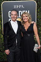 Golden Globe nominee Marco Beltrami and guest attends the 76th Annual Golden Globe Awards at the Beverly Hilton in Beverly Hills, CA on Sunday, January 6, 2019.<br /> *Editorial Use Only*<br /> CAP/PLF/HFPA<br /> Image supplied by Capital Pictures