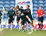 Ryan Conroy celebrates after scoring for Raith Rovers