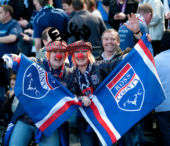Ross County fans celebrate a famous victory