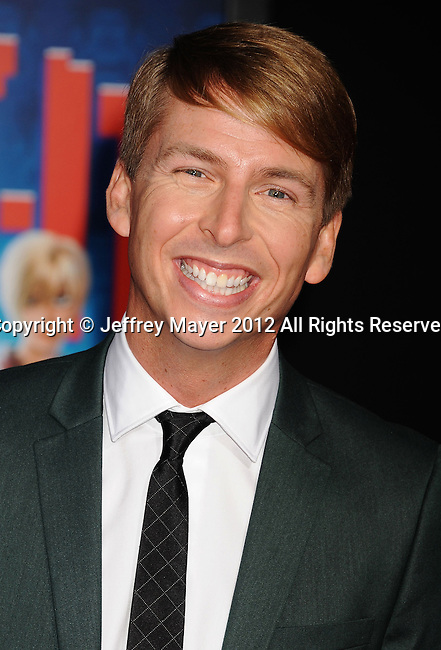 HOLLYWOOD, CA - OCTOBER 29: Jack McBrayer arrives at the Los Angeles premiere of 'Wreck-It Ralph' at the El Capitan Theatre on October 29, 2012 in Hollywood, California.