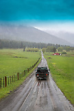 USA, Oregon, Joseph, Cowboy Todd Nash drives his truck near Joseph in Northeast Oregon