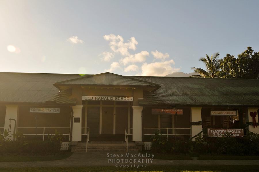 Old Hanalei School, Hanalei, Kauai, Hawaii