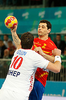 19.01.2013 World Championshio Handball. Match between Spain vs Croatia (25-27) at the stadium La Caja Magica. The picture show  Alberto Entrerrios Rodriguez (Left Back of Spain)