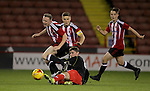 Crewe's Joe Lynch tackles Sheffield United's Oliver Greaves during the FA Youth Cup First Round match at Bramall Lane Stadium, Sheffield. Picture date: November 1st 2016. Pic Richard Sellers/Sportimage