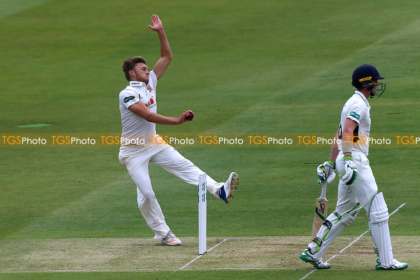 Aaron Beard in bowling action for  Essex during Middlesex CCC vs Essex CCC, Specsavers County Championship Division 1 Cricket at Lord's Cricket Ground on 21st April 2017