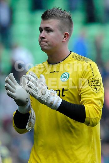 GRONINGEN - Voetbal, FC Groningen - SC Cambuur, Eredivisie, Euroborg, seizoen 2014-2015, 12-04-2015,  FC Groningen doelman Segio Padt