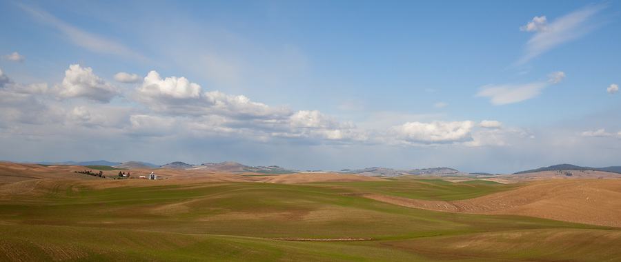 The Palouse, as seen from Steptoe Butte during the summer months in Eastern Washington.