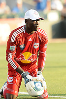 Bouna Coundoul...Kansas City Wizards were defeated 3-0 by New York Red Bulls at Community America Ballpark, Kansas City, Kansas.