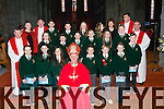 Pupils from the Loreto NS Killarney with Bishop Ray Browne and Mary O'Sullivan Principal and teacher Mary Moynihan at their Confirmation in St Mary's Cathedral on Friday