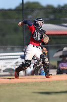 Ben Rozenblum (61) of Calvary Christian Academy in Coral Springs, Florida during the Under Armour Baseball Factory National Showcase, Florida, presented by Baseball Factory on June 13, 2018 the Joe DiMaggio Sports Complex in Clearwater, Florida.  (Nathan Ray/Four Seam Images)