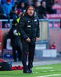 Södertälje 2013-03-31 Fotboll Allsvenskan , Syrianska FC - Kalmar FF :  .Syrianska manager tränare Özcan Melkemichel reagerar.( Foto: Kenta Jönsson )  Nyckelord:  arg förbannad ilsk ilsken sur tjurig angry