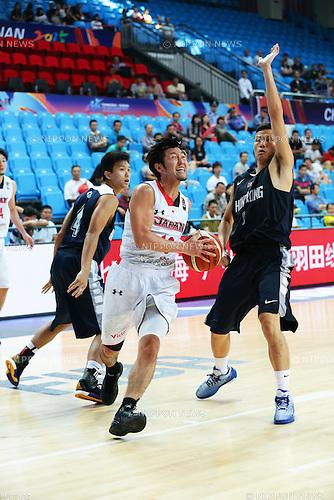 Ryoma Hashimoto (JPN), Wai Kong Au-Yeung (HKG), SEPTEMBER 29, 2015 - Basketball : 2015 FIBA Asia Championship for Men Group E match between Japan 89-62 Hong Kong at Changsha Social Work College's Gymnasium in Changsha, China. (Photo by Yoshio Kato/AFLO)