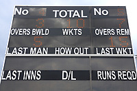General view of the scoreboard ahead of Kent Spitfires vs Essex Eagles, NatWest T20 Blast Cricket at The County Ground on 9th July 2017