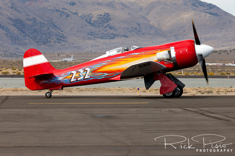 "Shuttle astronaut and pilot Robert ""Hoot"" Gibson taxies the Hawker Sea Fury ""September Fury during the 2012 Reno National Championship Air Races at Stead Field in Nevada."