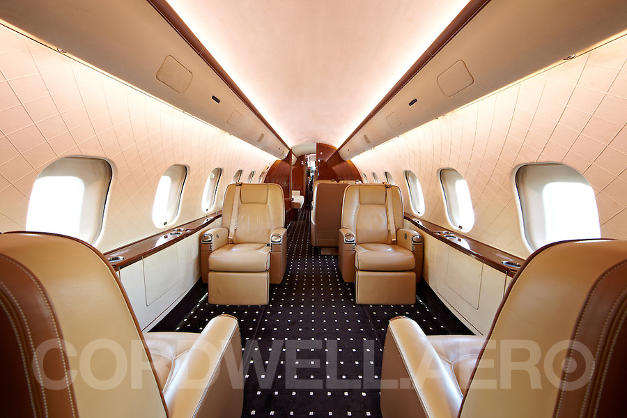 Dassault Falcon 900 interior Corporate Business Jet.<br />