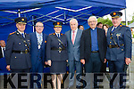 Superintendent Pat O'Sullivan, Killarney Mayor Bobby O'Connell, Commisioner Nóirín O'Sullivan, Minister Jimmy Deenihan, Monsignor Dan O'Riordan and Deputy Commisionor John O'Mahoney at Castleisland Garda Station at the official opening of the new Garda Station on Friday
