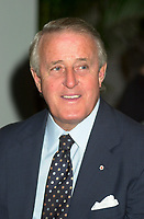 August 23rd  2002, Montreal, Quebec, Canada<br /> <br /> Brian Mulroney, Former Canadian Prime Minister,  Former Leader of the Conservative Party of Canada, now member of the board of Quebecor Inc, Quebecor World Inc, Barrick Gold, ...<br /> <br /> <br /> <br /> Mandatory Credit: Photo by Pierre Roussel- Images Distribution. (&copy;) Copyright 2002 by Pierre Roussel <br /> <br /> NOTE : <br />  Nikon D-1 jpeg opened with Qimage icc profile, saved in Adobe 1998 RGB<br /> .Uncompressed  Uncropped  Original  size  file availble on request.