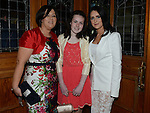 Caitlyn Kirwan who was confirmd in St Michael's church Clogherhead pictured with mam Terry and sponsor Tracy Thornton. Photo:Colin Bell/pressphotos.ie